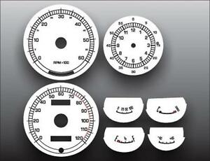 1967-1968 Mercury Cougar XR7 Dash Instrument Cluster White Face Gauges 67-68