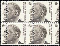 1284, Scarce Misperforation ERROR Block of Four 6¢ F.D.R. Mint NH - Stuart Katz