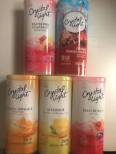 PICK 6 Canisters Crystal Light Drink Mix ORANGE LEMONADE FRUIT PUNCH RASPBERRY +