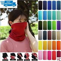 Snood Balaclava Scarf Face Mask Bandana Neck Warmer - Multi Use - 18 Colours UK