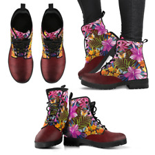 Tropical Butterfly Handcrafted Women's Vegan-Friendly Leather Boots