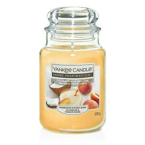 Large Yankee Candle Home Inspiration Coconut Peach Smoothie New Jar