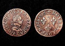 Double Tournois 1616 X (Amiens) Louis XIII°, Type spécifique. Cuivre