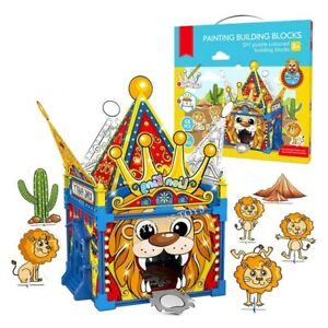 Childrens Kids Doodle Build Colour Circus Cardboard Play Houses DIY Xmas Gift UK