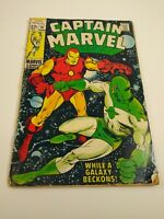 Captain Marvel No.14  (June 1969)  Iron Man!  KEY= Final 12 Cent Issue!