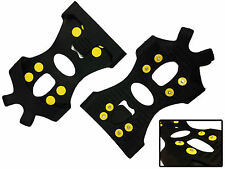 STUDDED SNOW AND ICE SHOE GRIPS - BOOT GRAMPON GRIPPERS - LARGE SIZE