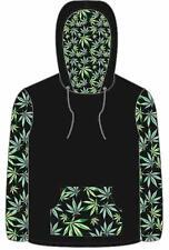 POT LEAF marijuana HOODIE SWEAT SHIRT ADULT SIZE XLG men women leaves sweatshirt