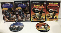 PS2 Lot of 2 ! Disney Ratatouille + Kung Fu Panda ! Complete w/manuals ! CIB 🔥