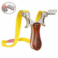 High Velocity Slingshot Hunting Catapult Stainless Steel Aim Point Rubber Bands
