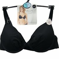 Ex M&S Ladies 2 Pack Padded Underwired Plunge T-Shirt Bras Black Sizes 32 - 40