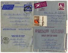 SOUTH AFRICA AIRLETTERS STATIONERY to HUNGARY 1967...2 DIFFERENT