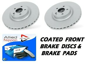 2 x FRONT BRAKE DISCS & BRAKE PADS fits NISSAN MICRA K12 1.0 1.2 1.4 1.5 DCi 1.6