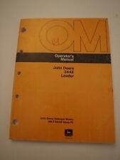 John Deere Jd 344e Front End Wheel Loader Payloader Operators Owners Manual
