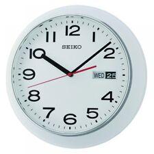 Seiko QXF102H Day & Date Calendar Wall Clock White