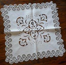 Elegant Vintage Lace And Linen Tabletop Doily