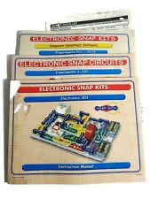 Electronic Snap Circuits Experiments 1-101 303 PC 1-73 Manuals ONLY- parts list