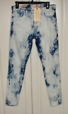 NWT Current/Elliott sz 29 stiletto jeans indigo summer tie dye cropped skinny