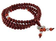 Sandelholz Mala mit Dorje Buddhistische Gebetskette Tibet Rosary Armband 56 cm
