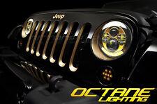 "97-16 Jeep Wrangler 7"" Gold Projector 6500K 6k HID LED Headlight Light Bulb Pair"
