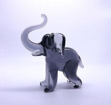 Grey Elephant Crystal Glass Decoration Mantelpiece Display Cabinet Shelf Decor