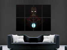 IRON MAN  ART WALL PICTURE POSTER  GIANT HUGE