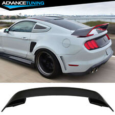 15-18 Ford Mustang GT350 Style V2 Rear Black Trunk ABS Spoiler Wing 2015 2016