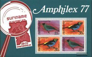 Surinam Bloque 19 (edición completa) nuevo 1977 Aves