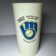 "Vintage 1982 Milwaukee Brewers Home Schedule Plastic 7"" Cup RARE"