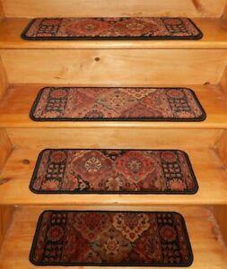 "13 = Step  9"" X 26""  + 1 Landing  26'' x 18'' Stair Treads  Wool Woven Carpet"