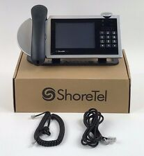 ShoreTel 655 IP Phone VoIP Shorephone Color LCD Silver-1 YEAR WARRANTY -Lot NEW