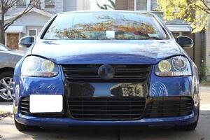 Kühlergrill für VW Golf 5 R32 1K Schwarz Grill Frontgrill Grill Waben Gitter ABS