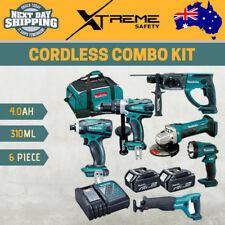 Makita 18V 6pce 4.0Ah Cordless Driver Drill Grinder Saw Torch Hammer Combo Kit