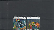 Tuvalu 2012 Mnh peces definitives 2v Set valores altos Marino