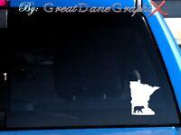Minnesota Black Bear Hunting State Vinyl Decal Sticker/ Color-HIGH QUALITY