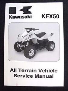 GENUINE 2007 KAWASAKI 50 KFX50 UTILITY VEHICLE REPAIR MANUAL NICE SHAPE