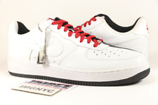 NIKE AIR FORCE ONE 1 PREMIUM NEW SIZE 14 SCARFACE BLACK WHITE RED 313641 101