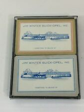 VINTAGE BUICK OPEL CAR DEALERSHIP PLAYING CARDS JIM WINTER AUTOMOBILE