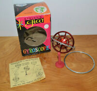 VINTAGE STEVEN'S GIANT GYROSCOPE TOY 1963 WITH BOX COMPLETE 1960'S TOYS