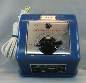 """Vintage Marklin Transformer 280 """"Marklin Super"""" 110 Volt  - Serviced, New Cord"""