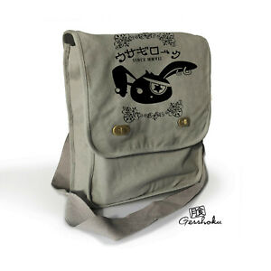 Goth Messenger Bag punk rabbit yami kawaii jrock visual kei japan grey purse