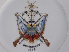 04D74 ANCIENNE ASSIETTE SOCIÉTÉ LA PATRIOTE DE BOURBOURG TIR AU FUSIL FLANDRE