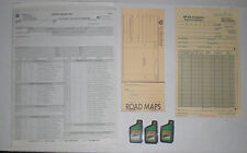 BP magnets, road map order form, lubricant order sheets, collection sheets