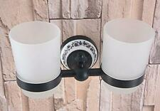 Oil Rubbed Bronze Cup Tumbler Holder Wall Mounted Toothbrush Cup Holder Bathroom