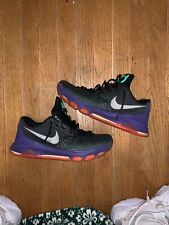 3d7bbd416fe1 Nike Zoom KD 8 Vinary Black Green Basketball Shoes 800259-013 Mens Size 9.5
