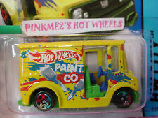 Case P 2014 i Hot Wheels BREAD BOX #7 ☀Yellow/Green/Blue;PAINT CO☀Delivery truck