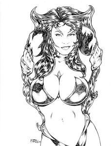 KIRK LINDO ORIGINAL ART- 8.5 x 11 Pencil Sketch (YOUR CHOICE)