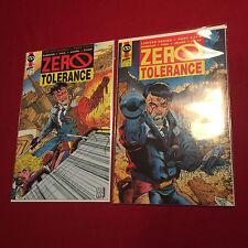 Zero Tolerance #1, 2 Comic Books First Publishing Comics