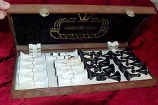 Soviet Vintage Original Chess set with folding board 1980