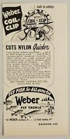 1951 Print Ad Weber Fly Fishing Tackle Coil Clip Line Cutter Stevens Point,WI