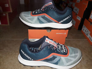 NEW Mens Merrell MTL Skyfire X White Mountains Trail Running Shoes, size 11.5